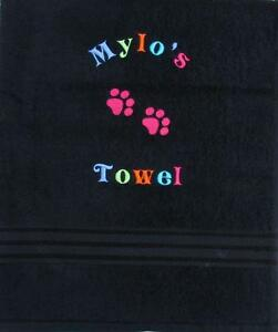 Dog / Pet Towel  Bright & Colourful!  PERSONALISED Choice of Size -  IDEAL GIFT