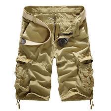 Men Sport Camo Cargo Shorts Active Military Combat Pants Multi-Pocket Size 29-38