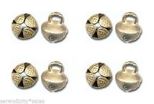 "50 Solid  BRASS JINGLE BELLS 19mm 3/4"" Beads Crafts ~ Sturdy Design. ~ Nice Ring"