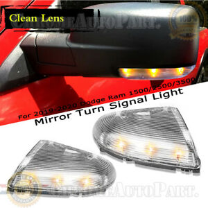 For 2009-2020 Dodge Ram 1500 2500 3500 Rearview Mirror Turn Signal Light
