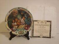Knowles Wizard of Oz Collector Plate If I Only Had a Brain With Certificate