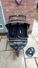 Out n About Nipper 360 Double Pushchair buggy used running sport Walking