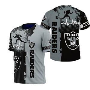 Las Vegas Raiders Short Sleeve T Shirt Men's Sports Shirts Football Tee Tops NEW