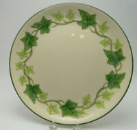 Franciscan USA Ivy Pottery greeen trim 12in Chop Plate Platter black 1940 mark