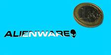 Alienware metalissed Chrome effect sticker logo autocollant 50x7mm [232]