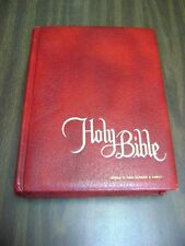 VINTAGE Large HOLY BIBLE Catholic Family 1972-73 Edition New American Bible Red