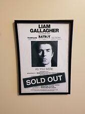 LIAM GALLAGHER As You Were 2017 UK Arena Tour A4 260gsm framed Poster Print