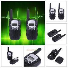 2pcs Mini Walkie Talkie Two Way Radio T388 for Child Amateur 5km UHF Radio Black
