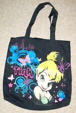Designer Handbag Black DISNEY Tinkerbelle Shopping School Kids Shoulder Bag