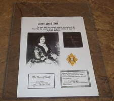 Famous Opera Singer Jenny Lind's [1838-83] Actual Hair (aka Swedish Nightingale)