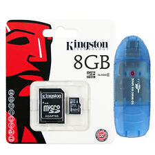 Lot 4 Kingston 8GB Class4 Micro SD Micro SDHC (=32GB) TF T-Flash Memory Card + R