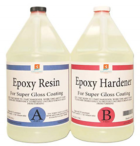 EPOXY Resin Crystal Clear -2 Gallon Kit | 1:1 Resin and Hardener for Super Gloss