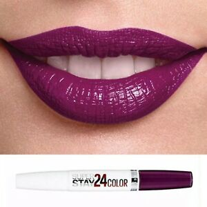 Maybelline Plum Burgundy Lipstick24 Hour Superstay Dual Ended 363 All Day Plum