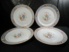 P T Bavaria Tirschenreuth Set Of 4 Plates  -  Florida Pattern  - Made in Germany