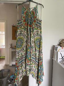 Anthropologie Handkerchief Hem Strappy Summer Dress M/L