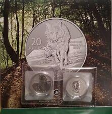 Pure SILVER WOLF 2013 $20 Coin Canada