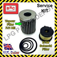 LPG BRC FJ1 HE Vapour POLYESTER and LIQUID Filter ET98 Element Service KIT rings