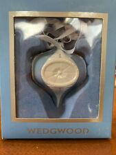 Wedgewood Christmas Ornament Blue Luster With Crystals Collectible Beautiful