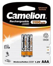 2 x Camelion AAA Micro HR03 1100mAh Blister Telefon NiMH Akku Accu 1,2 V