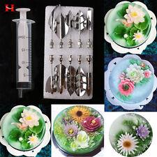 11Pcs/set 3D Gracilaria Needles Gelatin Jelly Art Jello Cake Syringe Decor Tools