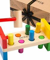 Jaques of London Deluxe Hammering Toy Let's Play Hammer Bench Montessori