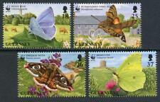 Guernsey: 1997 WWF Butterflies and Moths (586-589) MNH