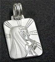 925 ECHT SILBER ***  Anhänger Hl. Maria Madonna betend, 31 mm