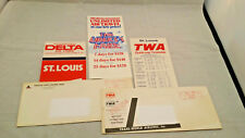 1970s TWA & Delta Airlines Quick Reference Schedules + Allegheny Marketing