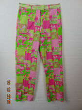 Lilly Pulitzer Size 8 Stretch 97% Cotton /Pink/ Green Floral