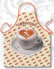 Kitchen apron Capuccino starbucks coffee lover polyester unisex one size ITATI