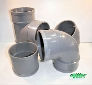 110 mm Solvent Weld WASTE Pipe FITTINGS, PIPE, LIGHT GREY,  fits 110 mm OD pipe