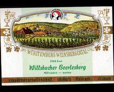 ETIQUETTE ANCIENNE Chromo de VIN SIVANER / WURTTEMBERG-WEINSBERGERSTAL en 1964