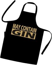 MAY CONTAIN GIN / Cooks / Chefs full length APRON / Tabard / BIRTHDAY / BBQ