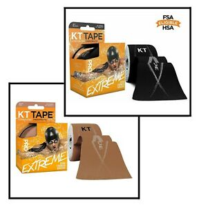 "KT Tape Pro Extreme Therapeutic Tape Roll - 20 10"" Precut Strips. Free Shipping!"