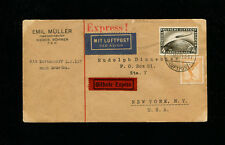 Zeppelin Sieger 27A 1929 America Flight Germany Post Express Mail to USA