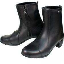 Blytz Milan Ladies/Womens Waterproof Leather Motorcycle Boots Size 2 UK Black