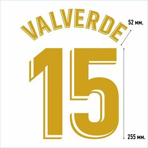 Valverde 15. Real Madrid Home football shirt 2019 2020 FLEX NAMESET NAME SET