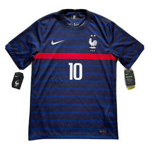 2020/21 France Home Jersey #10 Mbappe Medium Nike Soccer Football Euro NEW