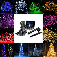 100/200 LEDs Solar Power String Fairy Lights Lamp Garden Outdoor Decor Xmas #L