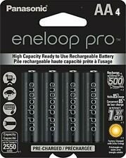 Panasonic Eneloop Pro AA 2550mAh NiMH Rechargeable Battery,4 Pack BK-3HCCA4BA