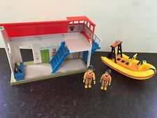 FIREMAN SAM Boathouse And Neptune Lifeboat With Sam And Penny figures