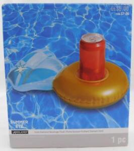 Ashland Summer Gold Diamond Beverage Float New Inflatable Pool