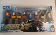 Set of 8 STAR TREK THE NEXT GENERATION 25th Anniversary PEZ Dispensers A1
