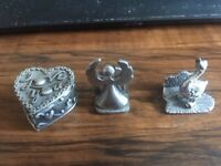 Lot of 3 Vintage Signed Pewter Figurines from the '70's/3 Finely detailed Pieces