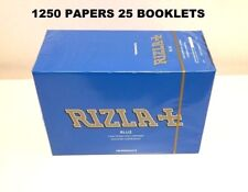 1250 RIZLA BLUE ROLLING PAPERS MADE IN BELGIUM ORIGINAL 25 BOOKLETS