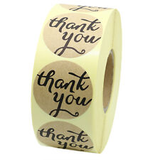 """1.5"""" Round Kraft Paper Thank You Stickers AdhesiveTotal 10 Rolls(8,000 Labels )"""