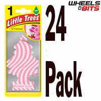 24x Magic Tree Little Trees  Bubble Gum Scent Fragrance Car Van Air Freshener