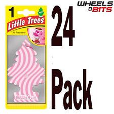 24x árbol mágico poco árboles Bubble Gum Aroma Fragancia Ambientador Coche Camioneta