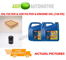 PETROL OIL AIR FILTER + FS PD 5W40 FOR LAND ROVER DISCOVERY 4.0 185 BHP 1998-04