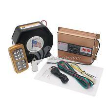8 Sound Loud Car Warning Alarm Police Fire Siren Horn PA Speaker MIC System 400W